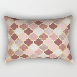 Warm rose gold moroccan Rectangular Pillow