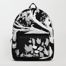 The Zen Tree - White on Black Backpack