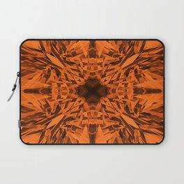 Orange kaleidoscope star pattern Laptop Sleeve