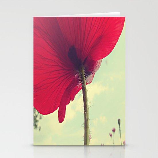 Red Poppy, Blue Sky Stationery Cards