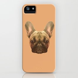 French bulldog puppy low poly. iPhone Case