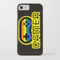 gamer iPhone & iPod Cases featuring Rainbow Gamer by UMe Images