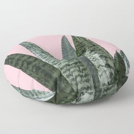 Snake plant in pink Floor Pillow