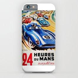 Le Mans poster, 1956, race poster, t shirt iPhone Case