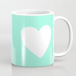Mint Heart Coffee Mug