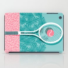 Good to go - memphis throwback 1980s neon pastel abstract sports tennis racquetball athlete game  iPad Case