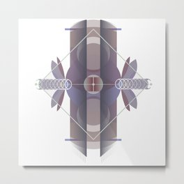 Circles to Angles (Light) Metal Print