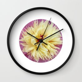 peony bloom macro XXV Wall Clock