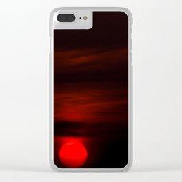 Swabian sunset Clear iPhone Case