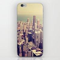 metropolis iPhone & iPod Skins featuring Metropolis by farsidian