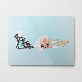 Electric Amateur Percussionists or Hopscotch Metal Print