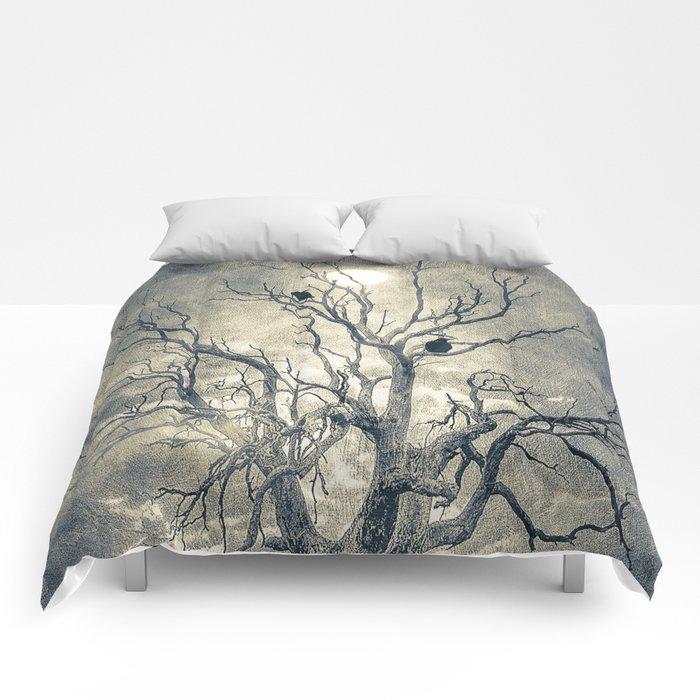 Raven's shelter II  (colour option) Comforters