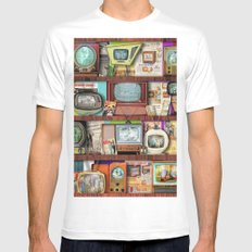 The Golden Age of Television MEDIUM White Mens Fitted Tee
