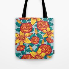 Flowers - Red Tote Bag