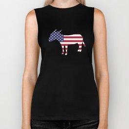 "Donkey ""American Flag"" Biker Tank"