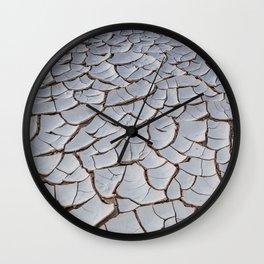 Cracked Earth Wall Clock