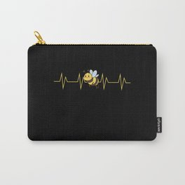Bee Bumblebee Heart Rate Kids Design Carry-All Pouch