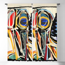 The Scream Street Art Graffiti Blackout Curtain