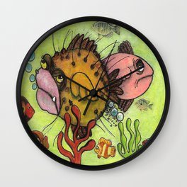 Happy Wife, Happy Life Wall Clock
