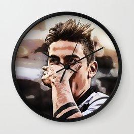 dybala mask celebration Wall Clock