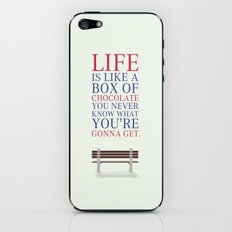 Lab No. 4 - Forrest Gump Movies Inspirational Quotes Poster iPhone & iPod Skin