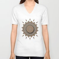 southwest V-neck T-shirts featuring Southwest Art Mandala by DebS Digs Photo Art