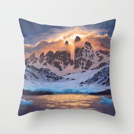 Arctic Pass Throw Pillow