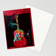 graphic guitar Stationery Cards
