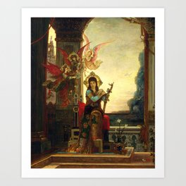 """Gustave Moreau """"Saint Cecilia and the Angels of Music"""" Art Print"""