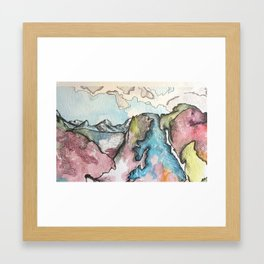 That Painting That is a Daydreamy Watercolor and Ink Landscape Framed Art Print