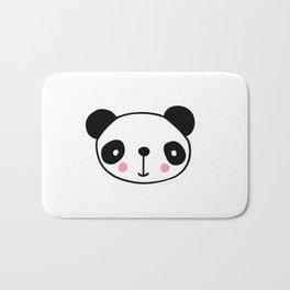 Cute panda head in black and white Bath Mat
