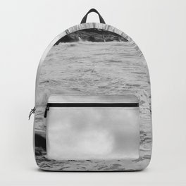 Tropical Waters (Black and White) Backpack