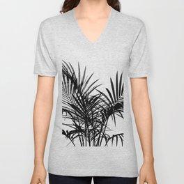 Little palm tree in black Unisex V-Neck