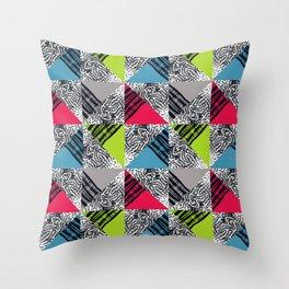Sea Rocks color mix Throw Pillow