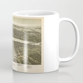 Aerial View of Oil City, Pennsylvania (1896) Coffee Mug