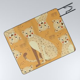 Cheetah, African Wildlife Picnic Blanket