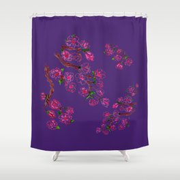 Sakura Branch Painting Shower Curtain