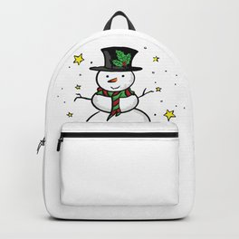 Snowman and the stars Backpack