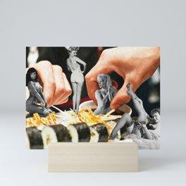 Sushi in the Pin-Up Sauce Mini Art Print