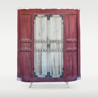 doors Shower Curtains featuring Palace Doors by Jennifer Stinson