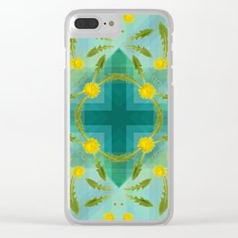 Dandelions in the sky Clear iPhone Case