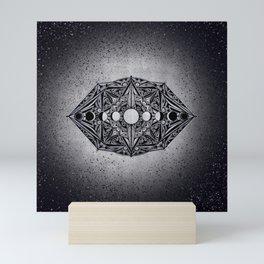Seeing the Moon (Moon Phases) by Nicole B Roberts Mini Art Print