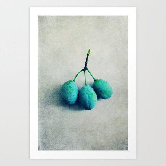 green plum Art Print