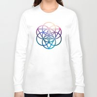 sacred geometry Long Sleeve T-shirts featuring Sacred Geometry Universe by Nick Kask Design Co