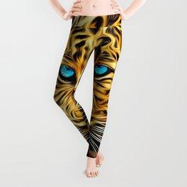 A blue eyes African tiger Leggings