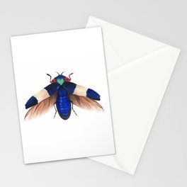 Royal Blue Fly Stationery Cards
