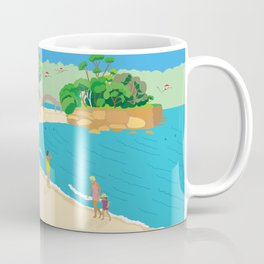 Modern Retro Art Print of Balmoral Beach, Sydney, Australia Coffee Mug