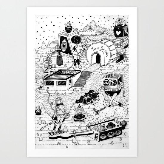 EL TANQUE CARCEDO Art Print