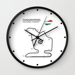 Hungaroring Circuit Wall Clock