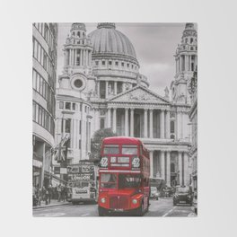 London Classic Bus Throw Blanket